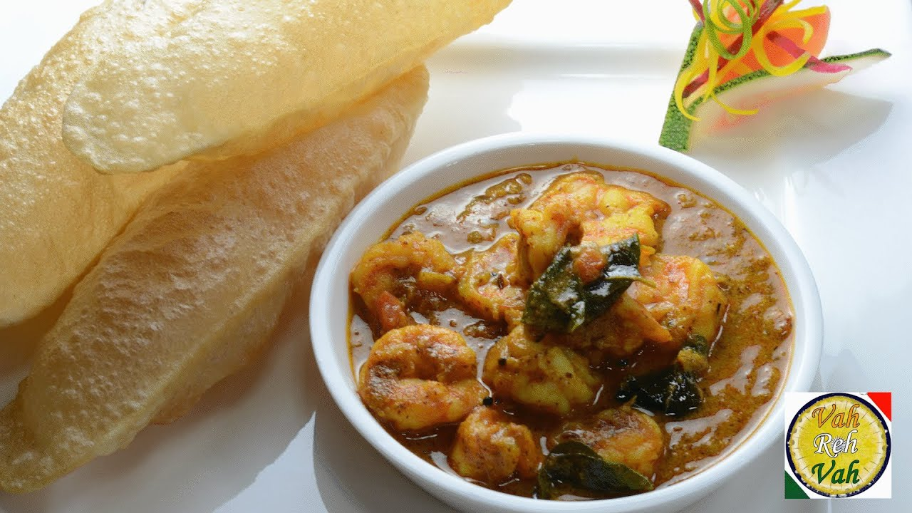 Prawns Cooked in Mustard Curry Sauce - Chingudi Besara - By Vahchef ...
