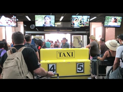 Meter Taxi – Don Mueang Airport, Bangkok Thailand – walkthrough – Jan 2015