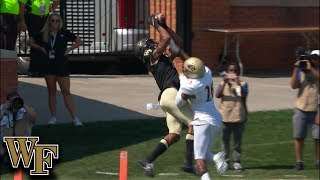 Wake's Jamie Newman Throws Beautiful Touchdown Pass on 4th Down