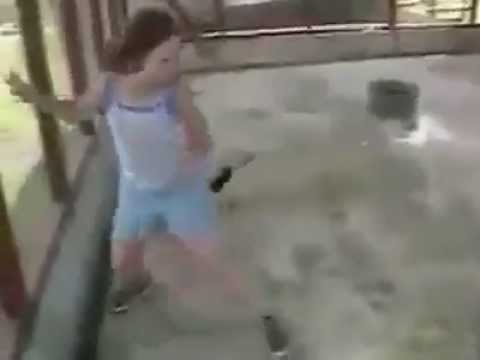 Monkey Fighting With Girl video