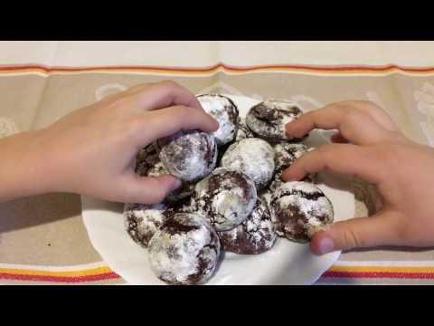 Готовим домашние шоколадные печеньки#Треснутое печенье