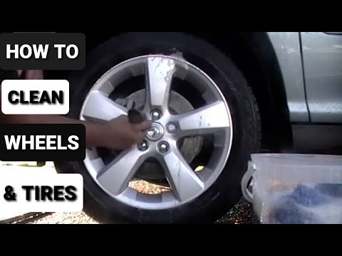 How to Clean Wheels. Tires. and Wheel Wells