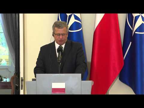 NATO Secretary General - Joint Press Point with Polish President, 06 OCT 2014