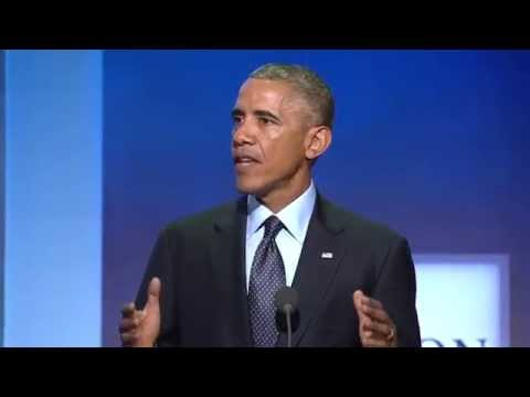 President Obama addresses the 2014 CGI Annual Meeting