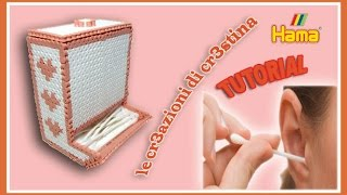 Dispenser Cotton Fioc/Caramelle con HAMA BEADS/Pyssla/Perler beads - Porta Cottonfioc Tutorial