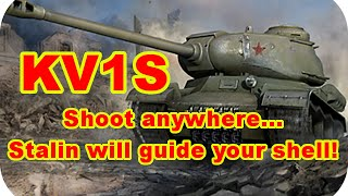 KV1S Shoot anywhere...Stalin will guide your shell! (World of Tanks Xbox)