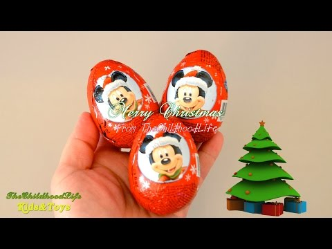 Christmas Kinder Surprise Mickey Mouse Clubhouse Surprise Eggs unboxing