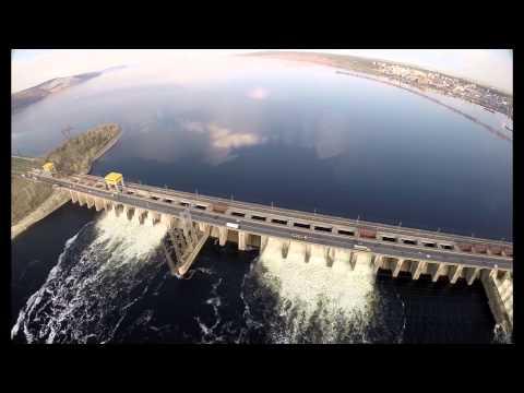 Сброс воды на Жигулёвской #ГЭС #Togliatti #Russia