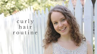 CURLY HAIR ROUTINE | easy, soft curls