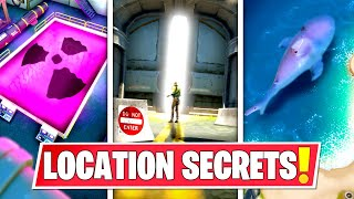 *NEW* SECRET LOCATION CHANGES THAT *EVERYONE MISSED* IN FORTNITE CHAPTER 2! GIANT DOOR, SHARK & MORE