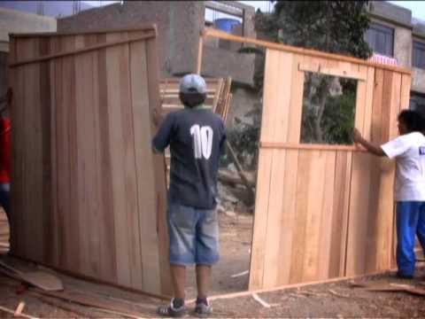M dulos de vivienda de madera reciclada youtube - Muebles madera reciclada ...