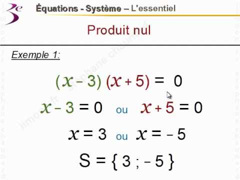 Cours gratuit de maths 3ème Equations, Systèmes par un ...