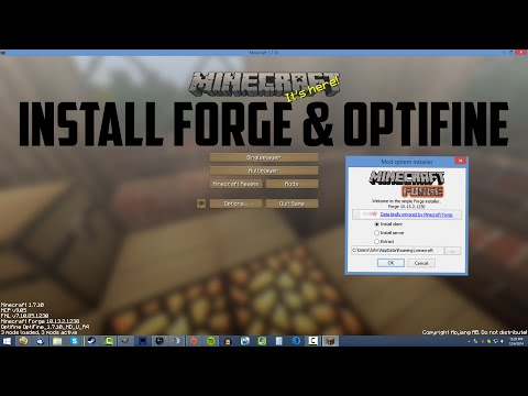 How to Install Forge & Optifine (Minecraft 1.7.10)