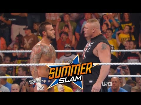 WWE SummerSlam 2013 Cm Punk vs Brock Lesnar No Holds Barred Full Match card prediction