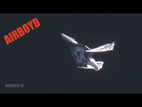 "Virgin Galactic s SpaceShipTwo First ""Feathered"" Flight"