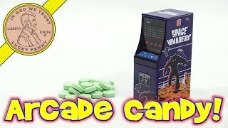 Space Invaders Video Game Arcade Cabinet Tin With Green Apple Candy