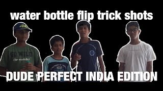 WATER BOTTLE FLIP TRICK SHOTS | DUDE PERFECT INDIAN EDITION