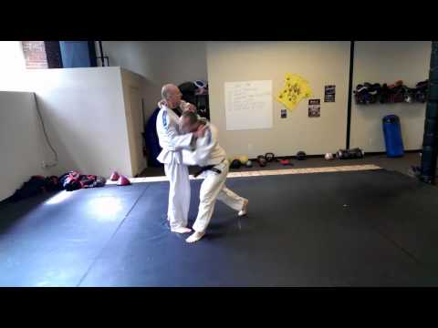 Judo Combination - Osoto-gari with skip transition to harai-goshi Image 1