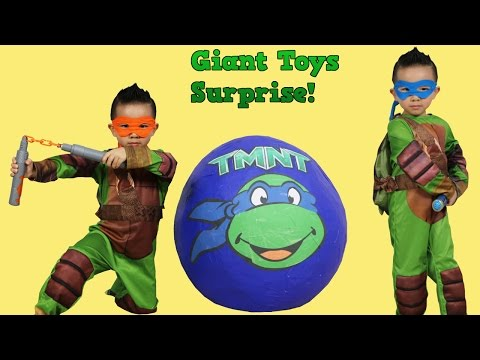 Ninja Turtles Out Of The Shadows Giant Surprise Egg Toys Unboxing Opening Fun With Ckn Toys