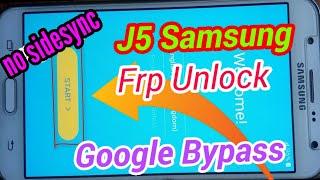 Samsung Galaxy J5 J500F - How to bypass Google account (SideSync method)