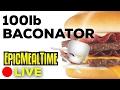 CANADIAN HEROES MAKE A 100lb BACONATOR LIVE NOW!!!