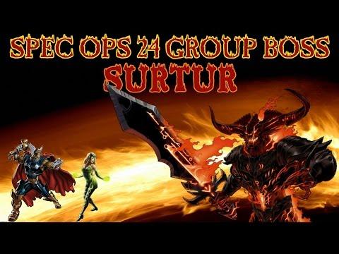 Marvel Avengers Alliance: Spec Ops 24 Group Boss - Surtur