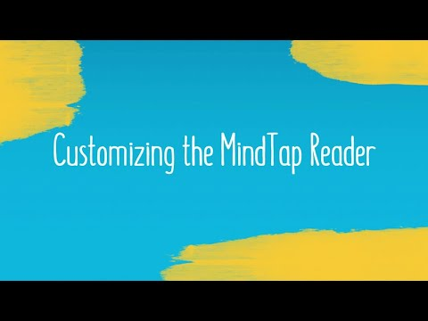Customizing the MindTap Reader