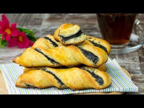 Замечательный выбор для семейных завтраков - Творожные палочки с маковой начинкой!   Appetitno.TV