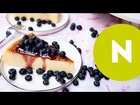 Cukormentes egyszerű sült sajttorta recept | Nosalty