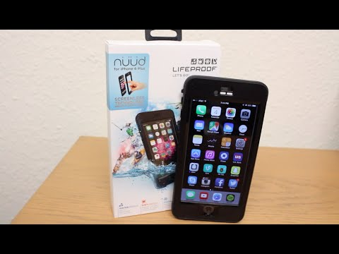 LifeProof Nuud iPhone 6 and 6 Plus Waterproof Case Unboxing. Review and Water Test!