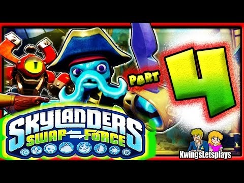 Skylanders Swap Force Wii U - Walkthrough Part 4 Mudwater Hollow Star Strike Gameplay