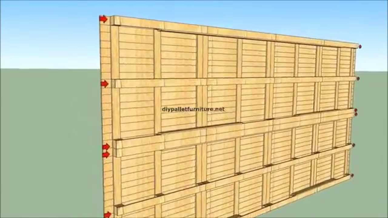 How To Built A House With Pallets YouTube