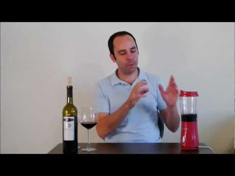 Hyperdecanting Wine in a Blender