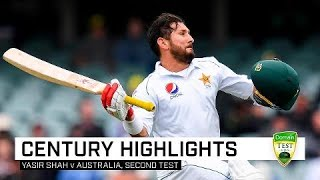 Yasir Shah stuns Australia with maiden Test hundred
