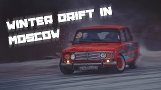 Winter drift in Moscow