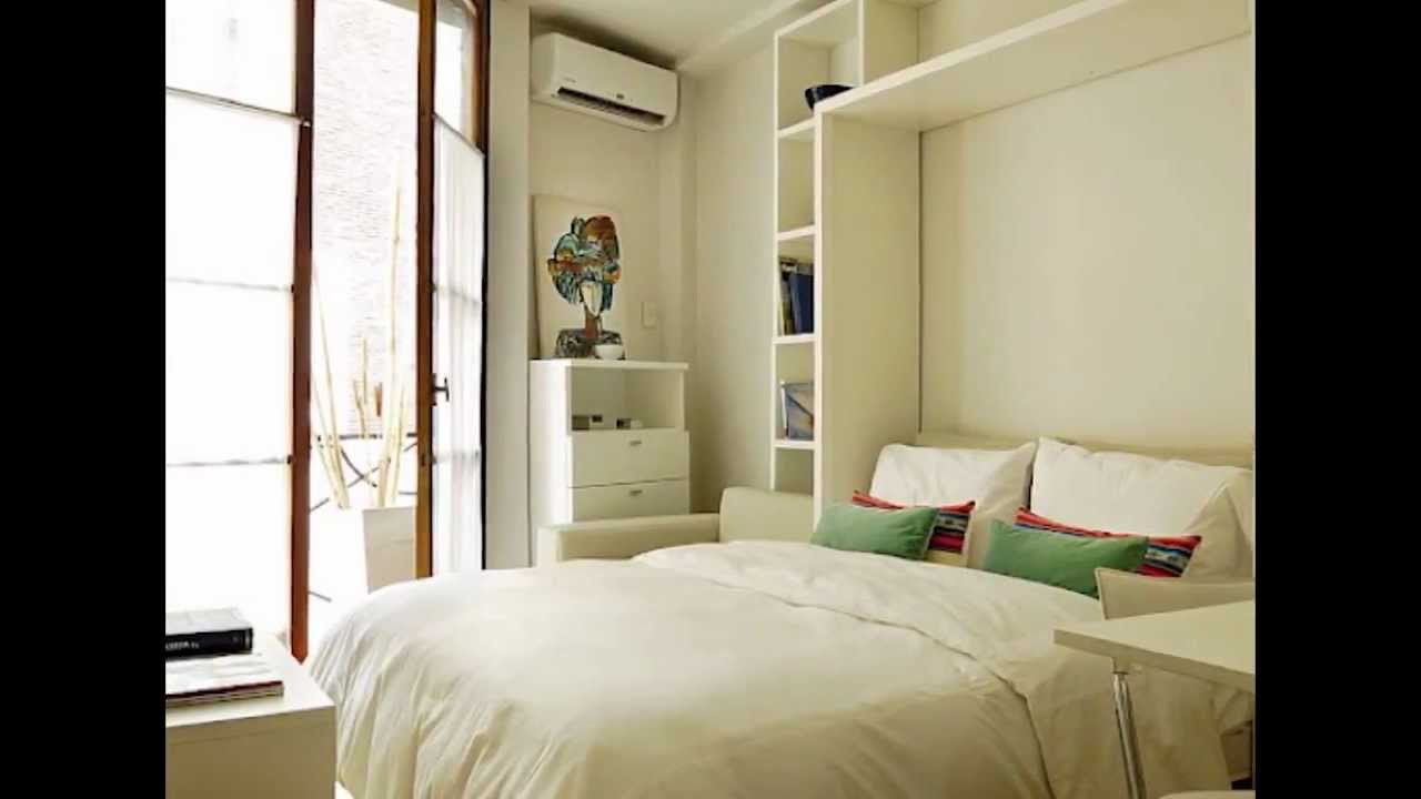 Muebles para monoambientes minbai youtube for Diseno de interiores espacios reducidos