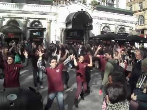 Lucky sam Doing Flashmob Dance - Central London ,masala Zone Flashmob 6th October Leicester Square video