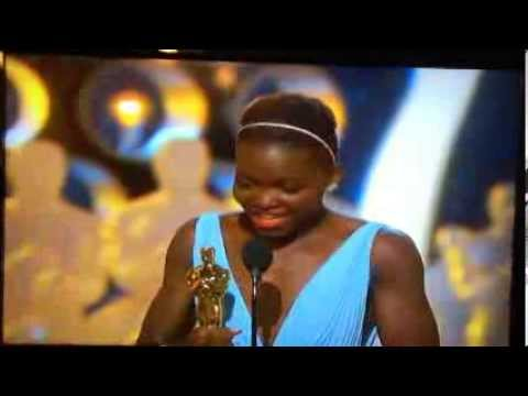 Lupita Nyong o s Beautiful Oscar Speech for *Best Supporting Actress* for Movie *12 Years a Slave!*
