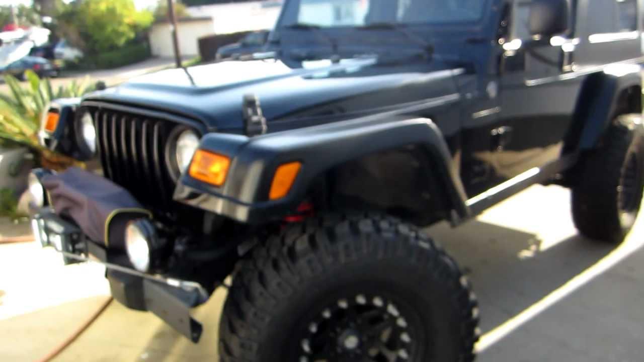 Jeep Wrangler Fenders >> Jeep Wrangler DIY fender lift (Highline) for a 2006 LJ (TJ) rubicon - YouTube