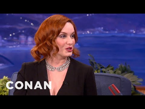 Christina Hendricks Always Wanted To Be A Redhead - CONAN on TBS