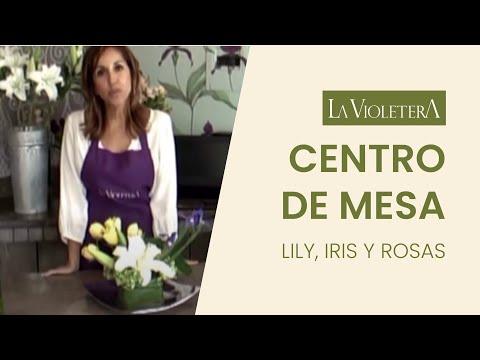 Como hacer un centro de mesa con flores LA VIOLETERA Florería y Escuela de diseño floral