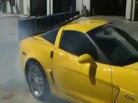 Corvette Z06 Burnout Fail