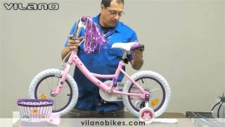 Assembly Instructions Vilano Girl's Bike with Training Wheels and Basket