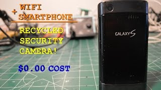 DIY recycle your old smart phone to a security camera