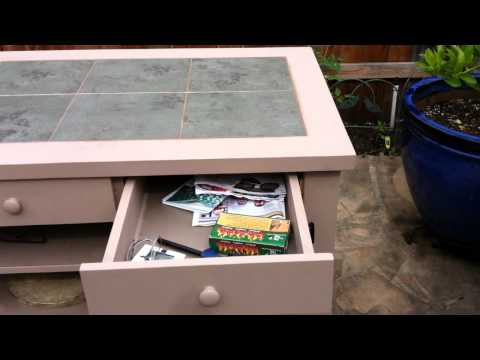 Dan's Custom  Big Green Egg Table.MOV
