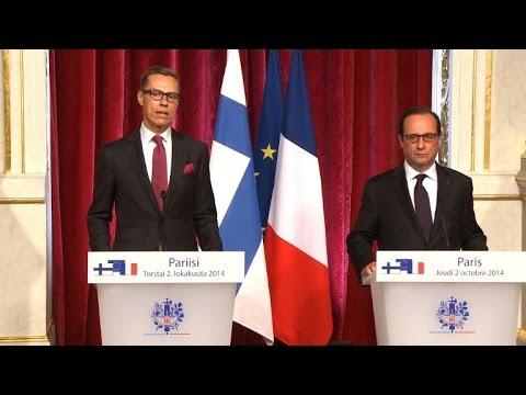 Hollande: fixer 1% de croissance en 2015