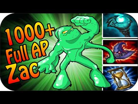 1000+ AP ZAC - Top Lane Full Gameplay