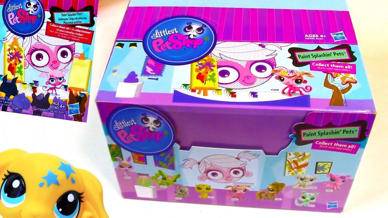 Blind Bag Haul Littlest Pet Shop Paint Splashin Box Case
