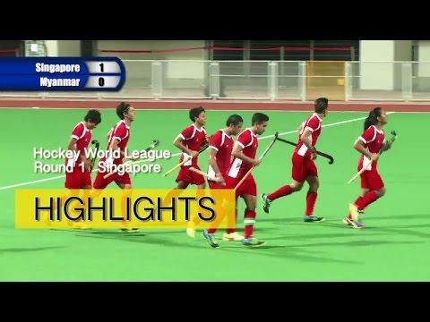 Singapore vs Myanmar highlights | 2016 Men's Hockey World League Round 1