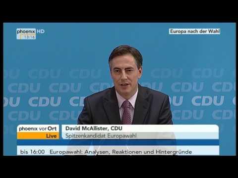 Europawahl - Angela Merkel & David McAllister zum Wahlausgang am 26.05.2014